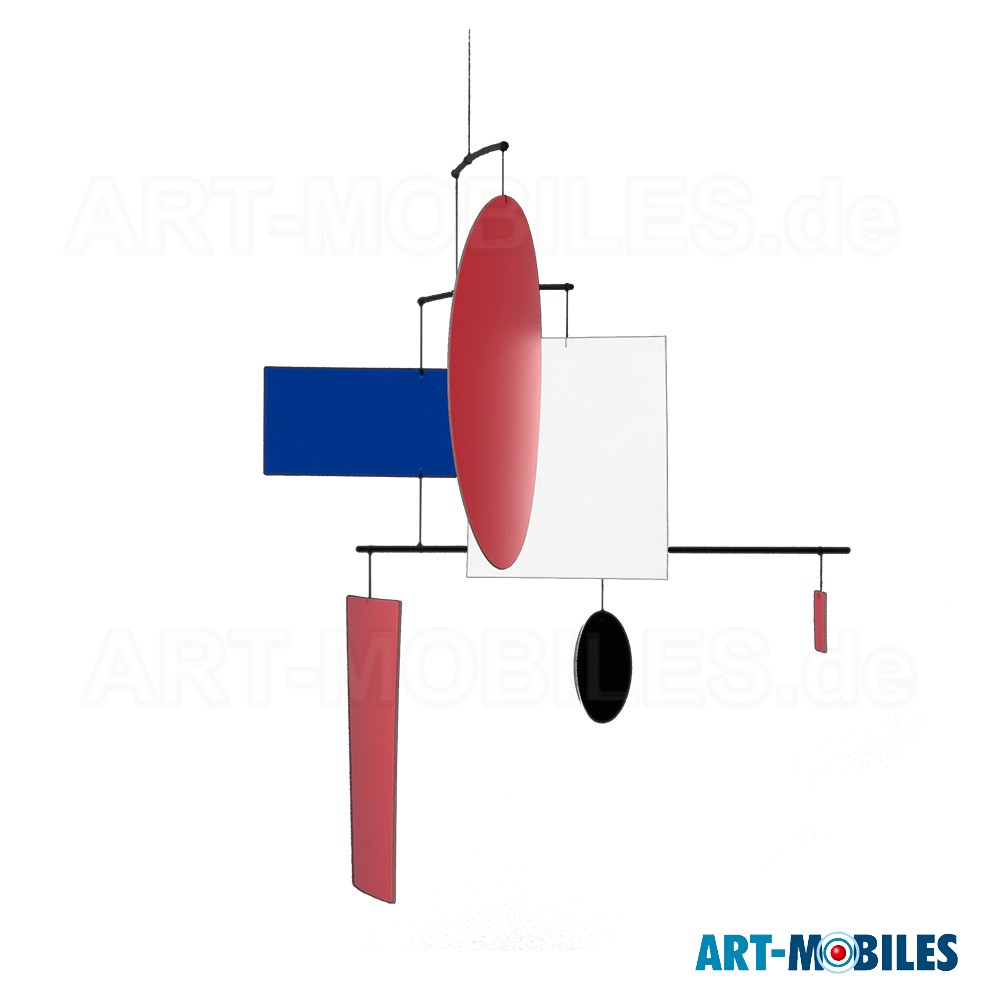 Mobile Circle Square Guggenheim hat Quadrate, Rechtecke und Kreise in den Grundfarben