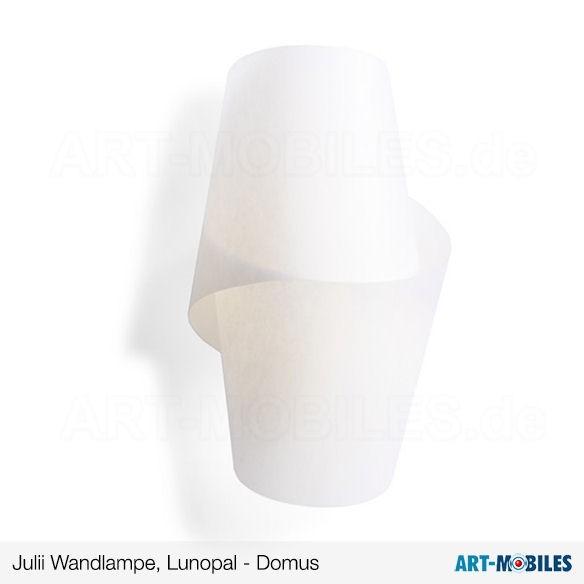 Julii Wandlampe Sockel Maron-Öl, Buche, weiß