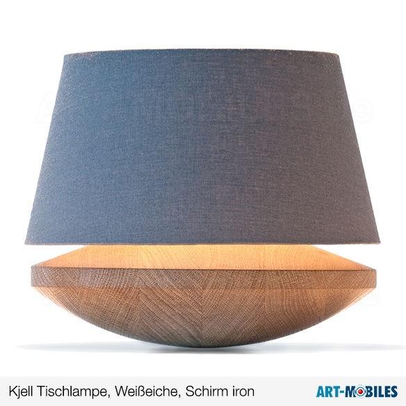 Kjell Tischlampe Weißeiche Schirm Linum crème 7768.6832 Domus