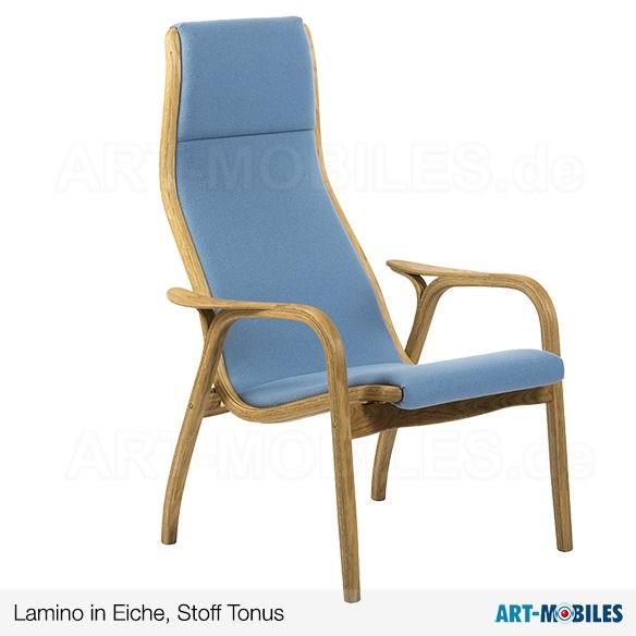 Lamino in Eiche Stoff Tonus blau Swedese