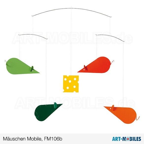 Mäuschen Mobile Grün-Orange FM106B Flensted Mobiles