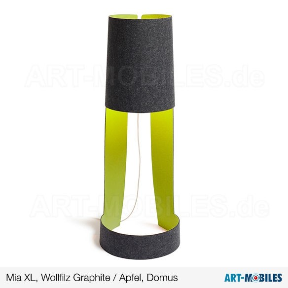 Mia XL, Lichtobjekt Wollfilz Graphite Apfel - Domus
