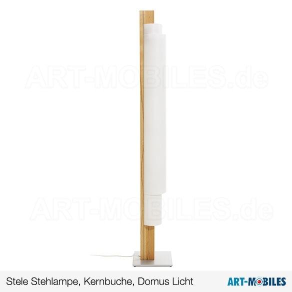 Stele Lichtobjekt - Domus Licht - Kernbuche / Lunopal - 9381