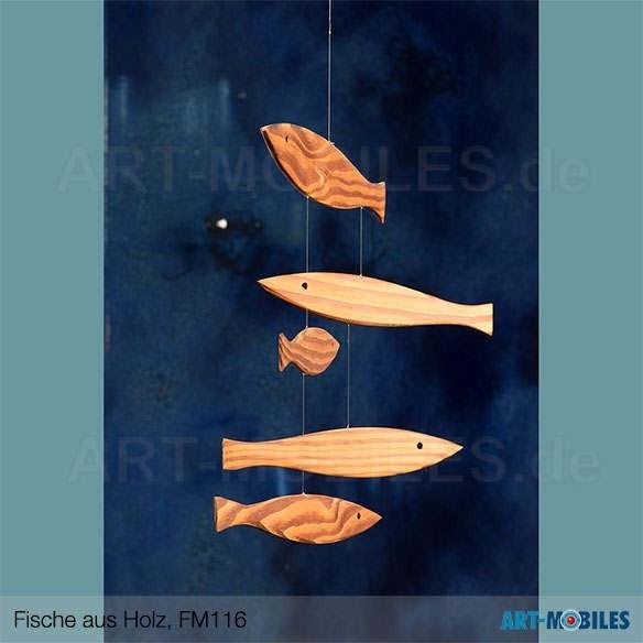 Treibende Fische aus Holz FM116 Flensted