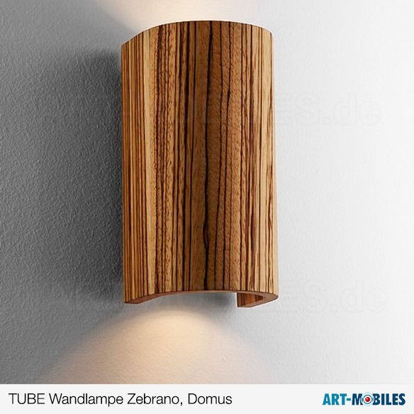 Tube Wandlampe Zebrano 5961. Domus Licht