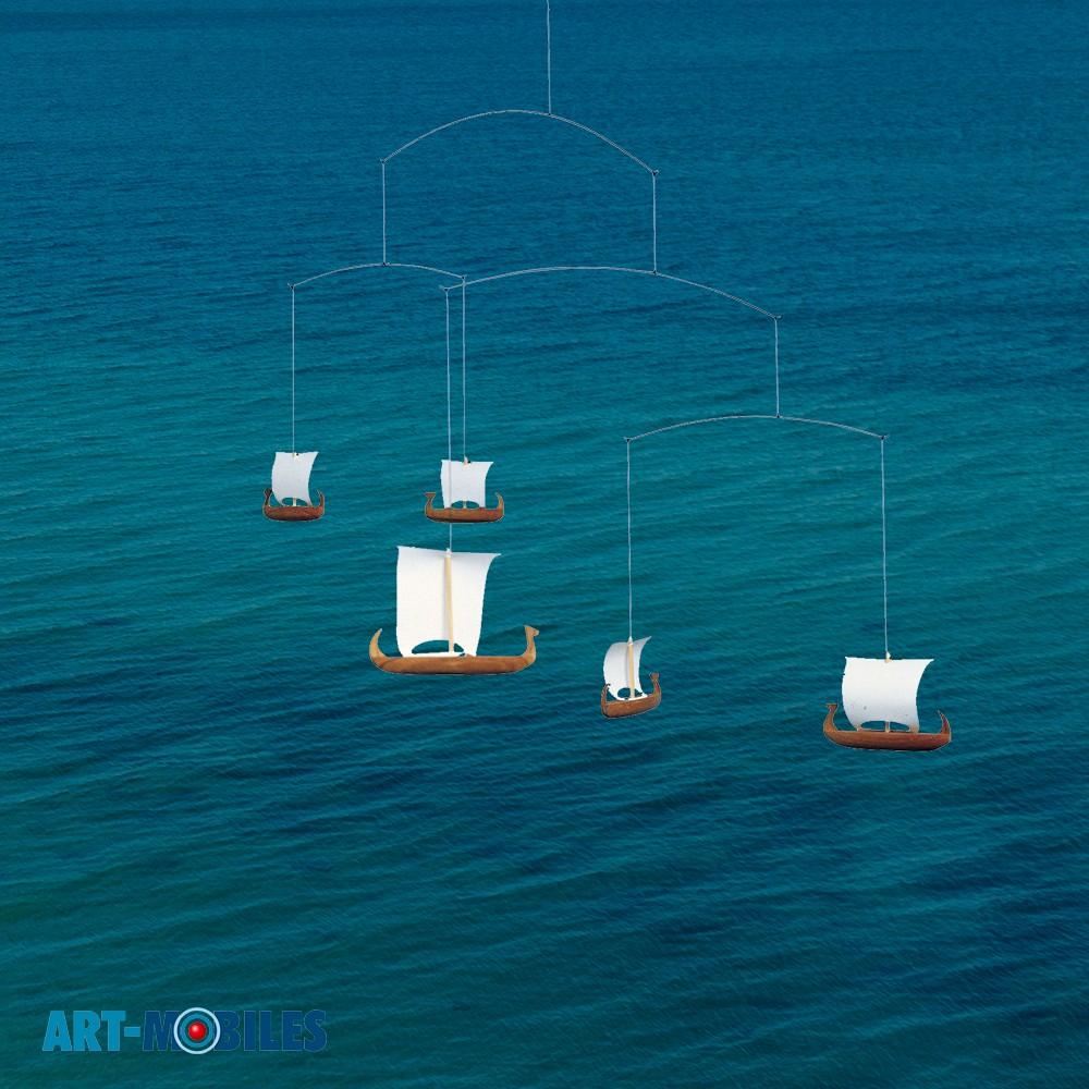 Viking 5 Mobile FM18 Wikinger Schiffe Flensted