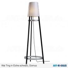 James Garderobenlampe in Eiche schwarz - Domus
