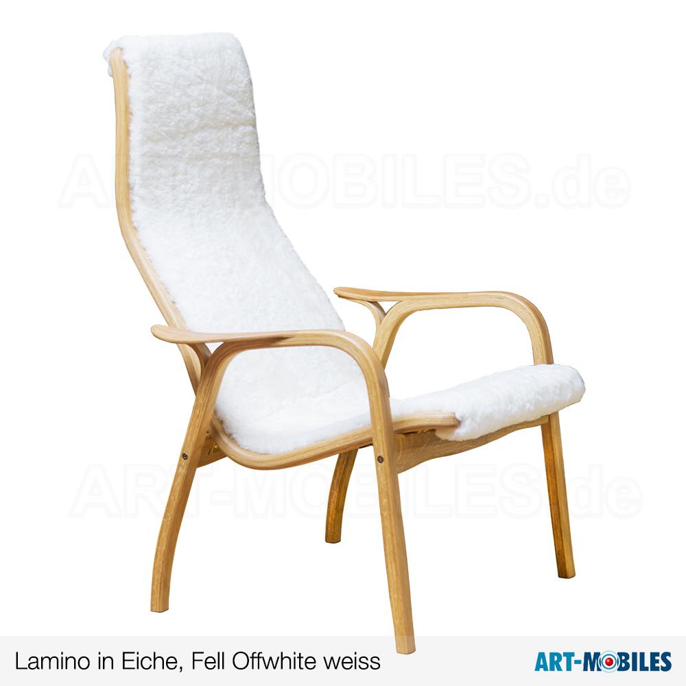 Lamino-Sessel-Eiche-Fell-Weiss