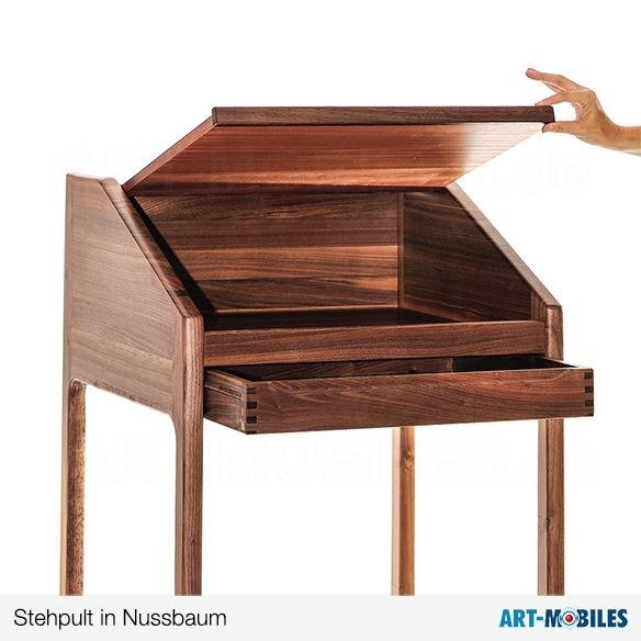 Stehpult in Teak mit Schublade und einer Klappe aus Dänemark