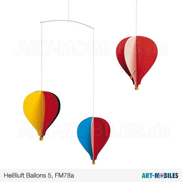 5 Heißluftballons Flensted Mobiles FM 78B