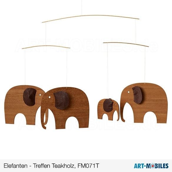 Elefanten-Party, Teakholz, Flensted Mobiles FM071T