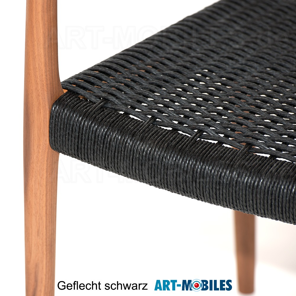 Møller Stuhl Nussbaum - Geflecht mit Armlehne Nr. 62 Dänemark