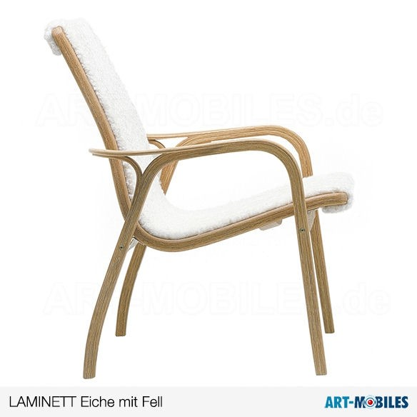 Laminett Sessel mit Fell Swedese