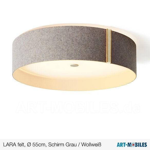 Larafelt Deckenlampe Ø 55 cm Wollweiß
