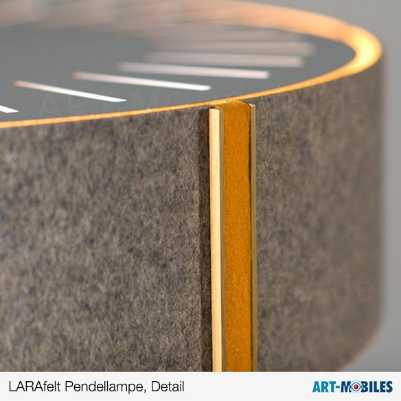 LARAfelt LARAwood Pendellampe Grau / Orange 1997.LED.14