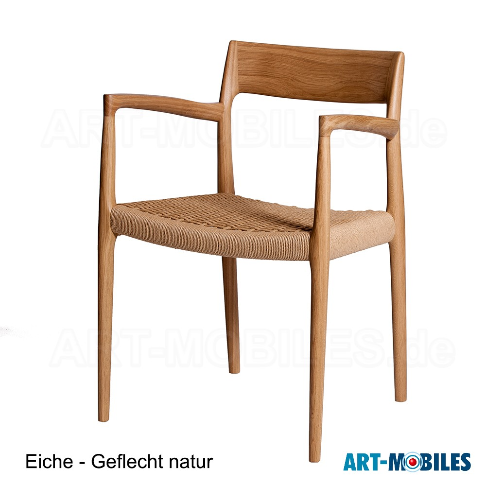 Møller Armstuhl Nr. 57 Eiche Geflecht natur