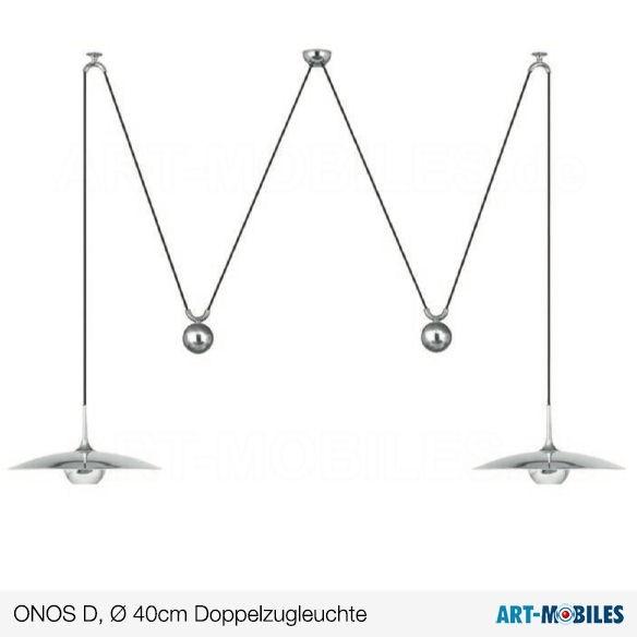 ONOS P 40cm  Pendelleuchte in Messing massiv, Florian Schulz VS-manufaktur