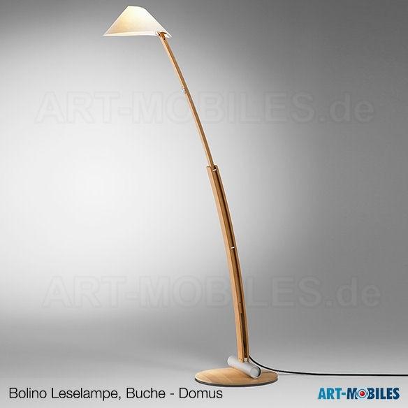 Bolino Stehlampe und Leselampe aus Buche, 6385.3308 von Domus
