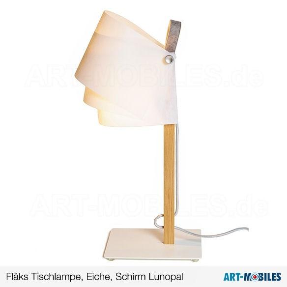 FLÄKS Tischlampe Eiche Lunopal 7733. Domus
