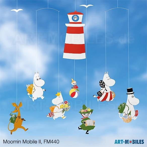 Moomin Mobile II Leuchtturm FM440 Flensted Mobiles