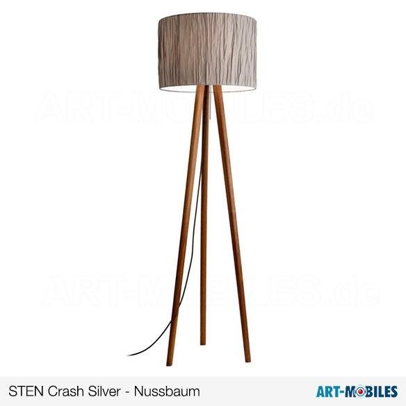 Sten Crasch Silver Nussbaum Stehlampe Domus licht