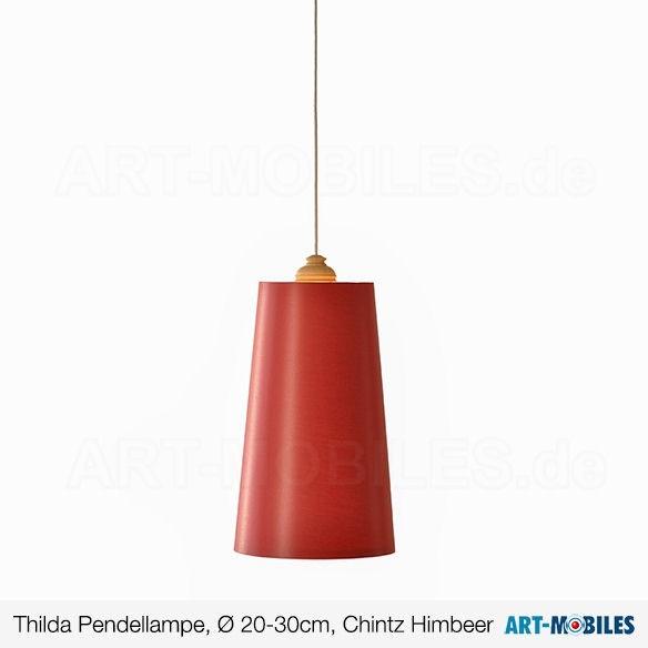 Thilda Hängeleuchte Ø20 - 30cm - Schirm Chintz Himbeer - 1977.0317