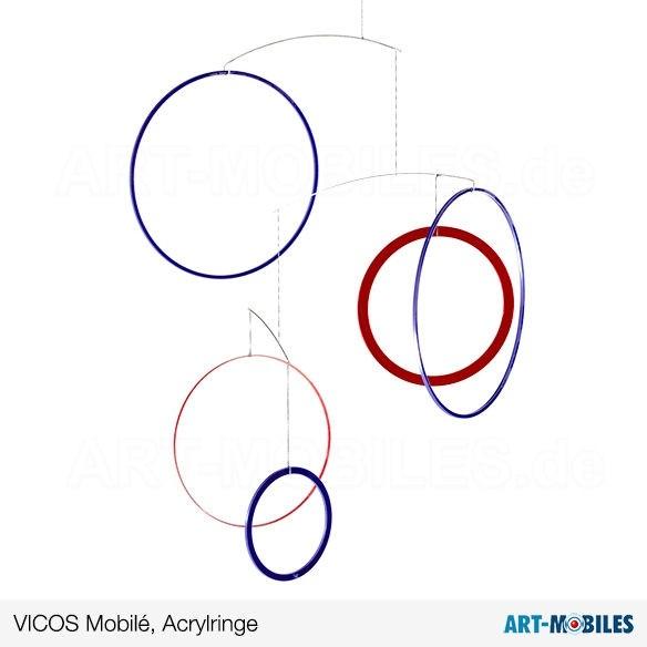 Vicos Mobilé Acrylringe rot blau, Annette Rawe