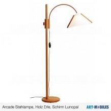 Arcade Stehlampe Leseleuchte - Domus - Erle Schirm Lunopal