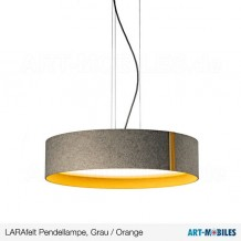 LARAfelt LARAwood Pendellampe Grau / Orange 1997.LED.14