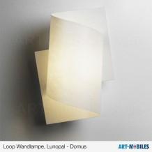 Loop Wandlampe Sockel Maron-Öl, Buche, Weiß