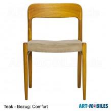 Stuhl Möller Nr. 75 in Teak - Bezug: Comfort