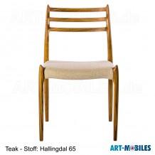 Möller Stuhl Nr. 78 Teak Bezug Hallingdal 65