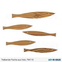 Treibende Fische aus Holz-FM116-Flensted Mobiles