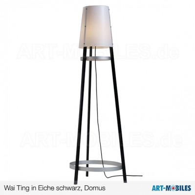 Wai ting Garderobenlampe in Eiche schwarz - Domus