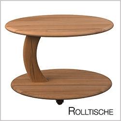 Couchtisch Rolltisch massiv Holz